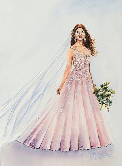 """Dress in watercolor 10x14"""""""