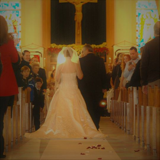 Daddy will never forget walking his daughter down the aisle.