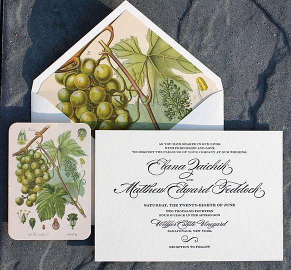 Fruity wedding invite