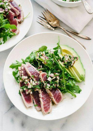Beef & avocado salad
