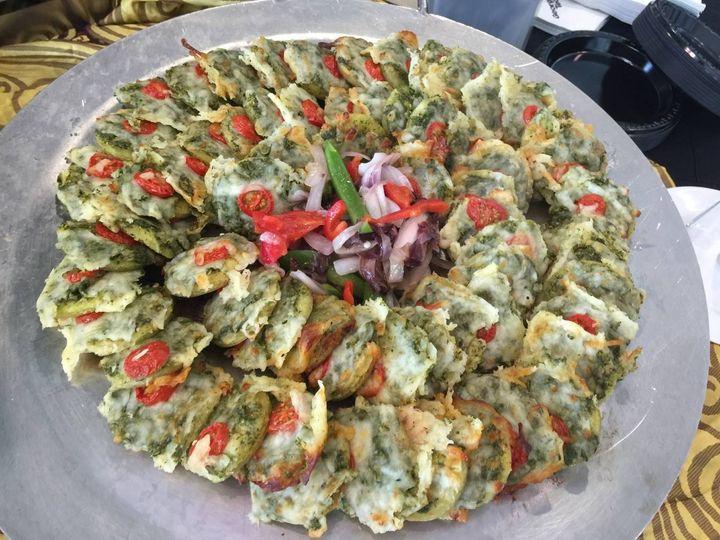 Spinach bruschetta