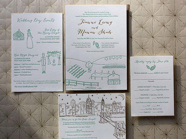 Tmx 1432226443326 Weddingimgjoanneandmanan070514 Brooklyn wedding invitation