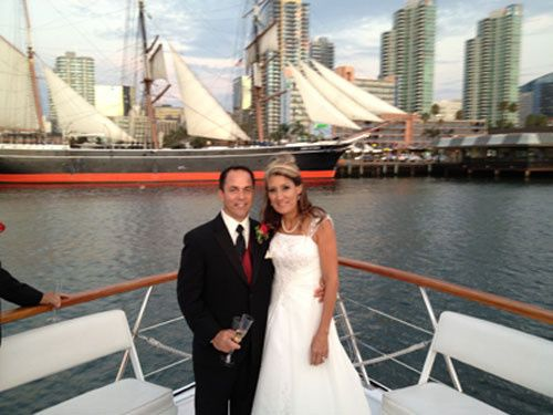 After the wedding photos - the Star of India makes a beautiful backdrop.