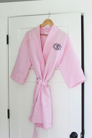 Monogram robes to get ready