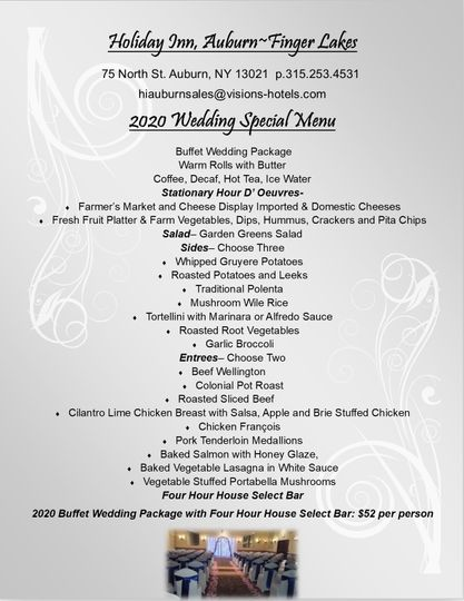 2020 Wedding Special Buffet