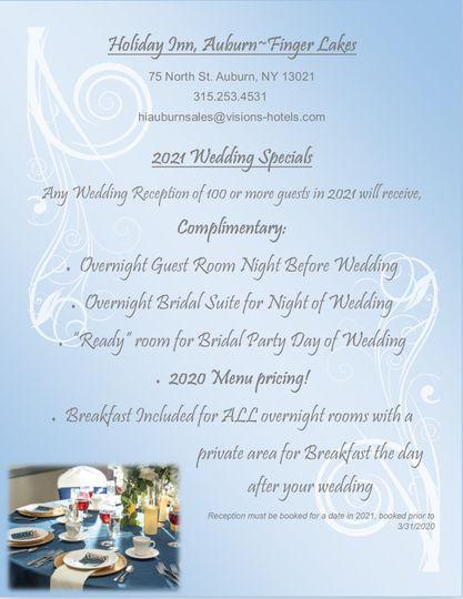 2021 Wedding Special