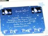 This is a save the date invite custom made by Couture Visions.