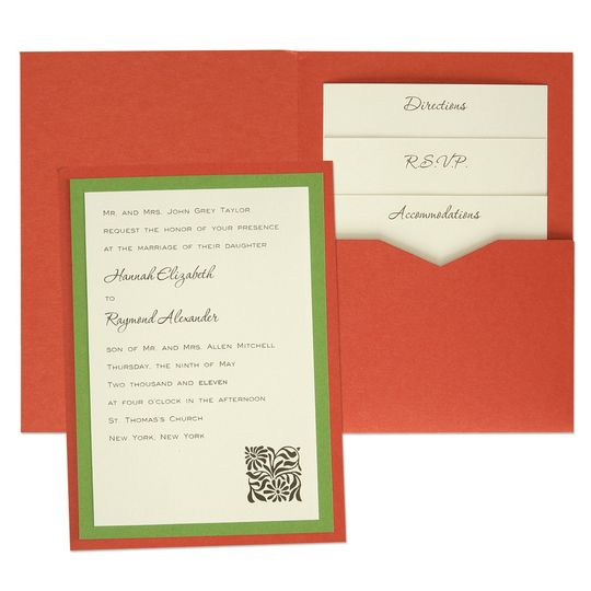 Our 5 x 7 Single Folio Pocket Wedding Invitations, available in 90+ paper colors, allow you to...