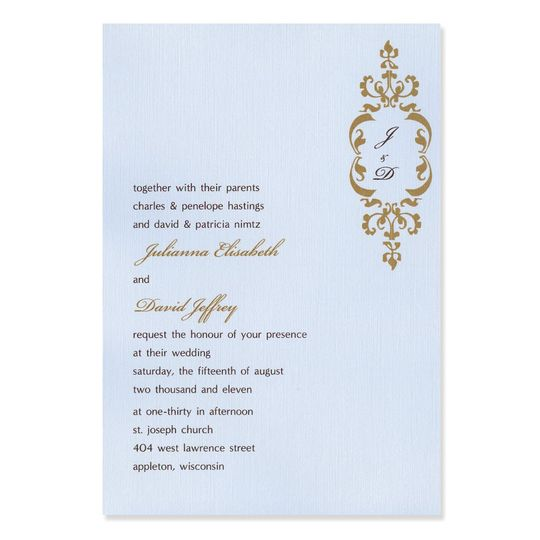 High glamour without the high price, these stunning Scarlett Wedding Invitations add a glamorous...