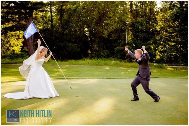 Bride & Groom Golfing