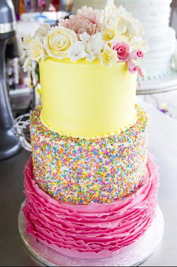 Dewey\'s Bakery - Wedding Cake - Winston Salem, NC - WeddingWire