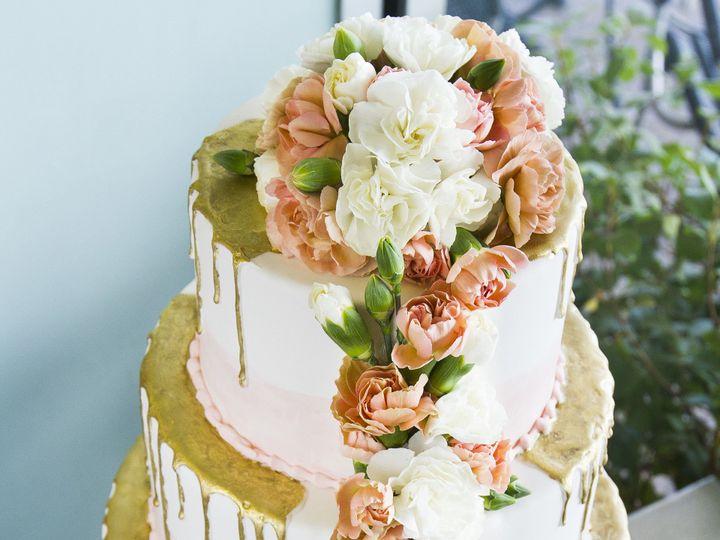 Tmx 1519153738 A0f41be6ab130af0 1519153731 2efb9567d5840b0a 1519153710550 28 Pink And Gold Winston Salem wedding cake