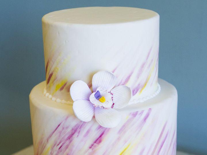 Tmx 1519153739 32620eea709c13ad 1519153732 B148907eb396914a 1519153710551 29 Pink And Yellow W Winston Salem wedding cake