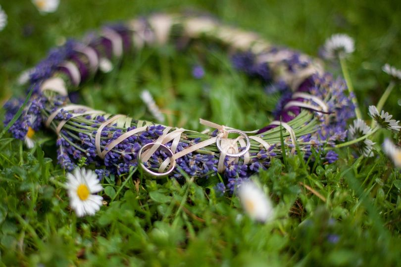 Lavender ring wreath