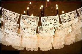Papel picado wedding banner