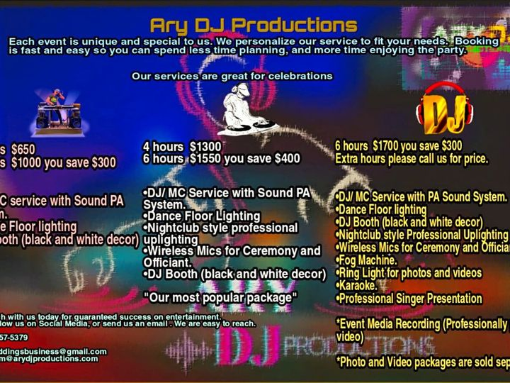 Tmx Ary Dj Productions Prices And Packages 51 1953375 160426349237730 Miami, FL wedding dj