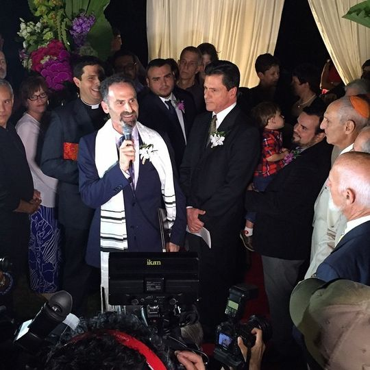 Rabbi Tom celebrating marriage equality