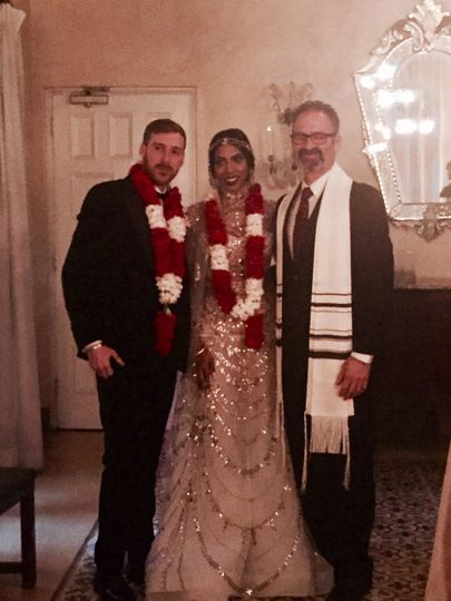 Rabbi Tom with Jewish-Hindu couple