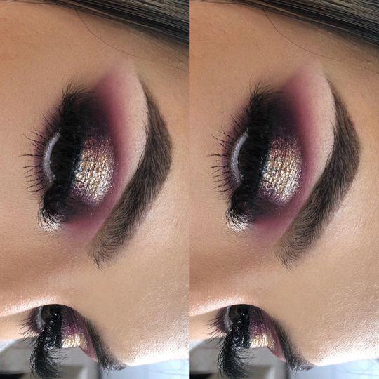 Berry halo eyes