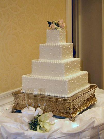 Square shaped cake