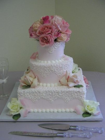 Pink cake toppers