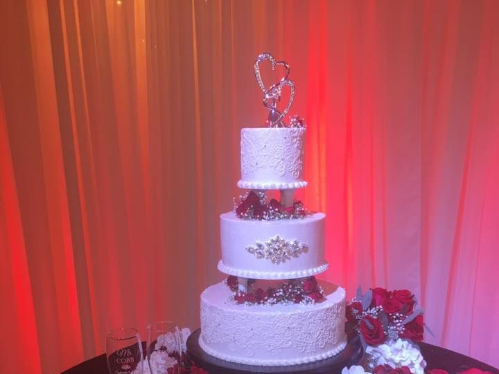 Tmx 21557794 1457533567666137 5975080670353778397 N 51 444375 Sanford, Florida wedding cake