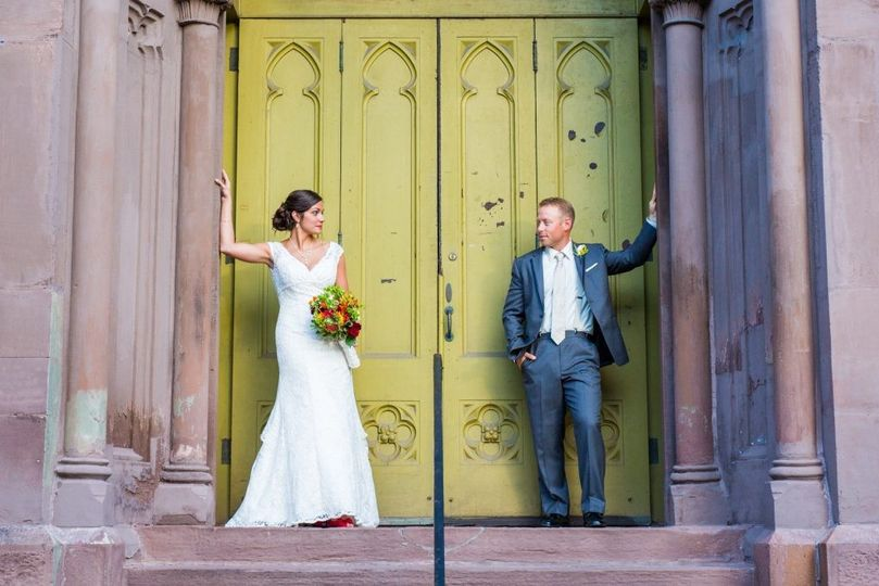 Bride and groom at Babeville