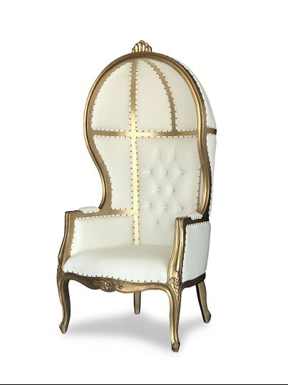 Gold Canopy Throne Chair