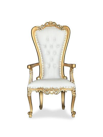 Gold Arm Throne Chair