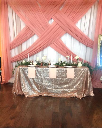 10x10 Backdrop w/ Sequin cloth