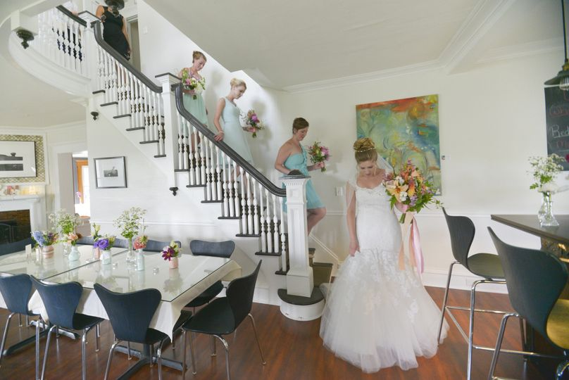 banta bride bar floor maids on stairs