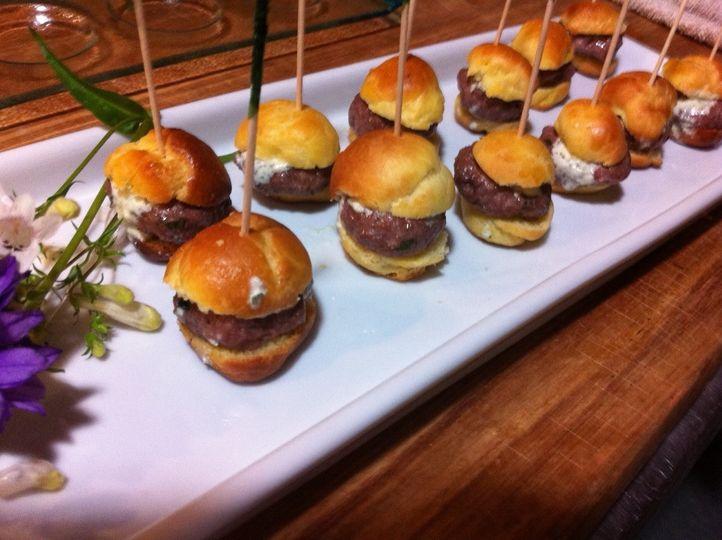 Mini Lamb Burgers with Tzatziki on Homemade Brioche