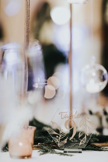 Table Numbers - Calligraphy