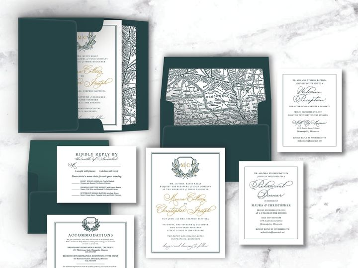 Tmx Kelly Battista Wedding Suite Mockup 51 1947375 159603834729136 Minneapolis, MN wedding invitation