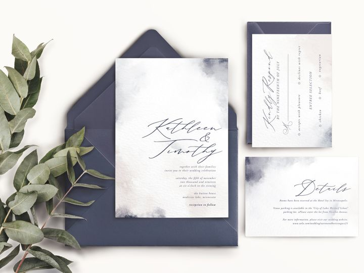 Tmx Mockup With Eucalyptus 51 1947375 159603787559143 Minneapolis, MN wedding invitation