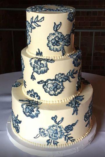 Elegant blue patterns