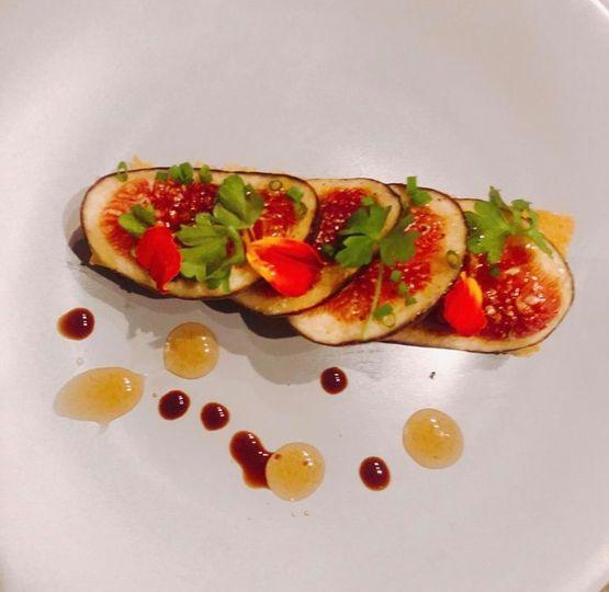 Fig, taleggio, truffle honey