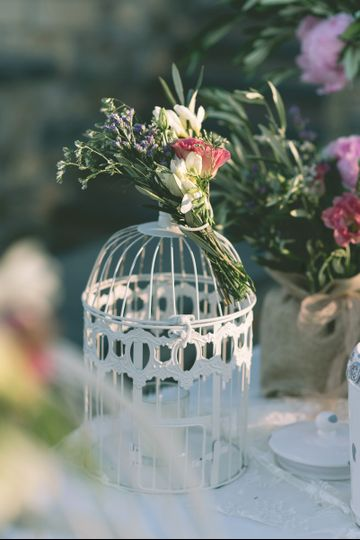 Vintage Bird Cage decoration