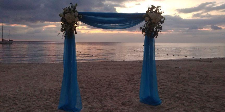 Beach wedding Negril Jamaica.