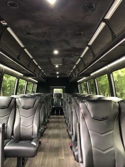 Luxury 32-passenger bus