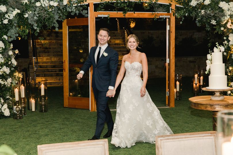 Couple making their grand entrance