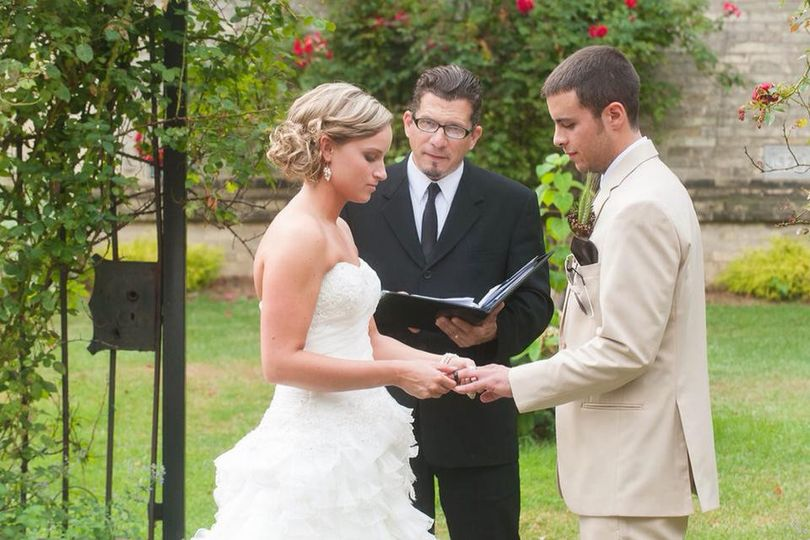 Peter A. Flessas officiating a wedding