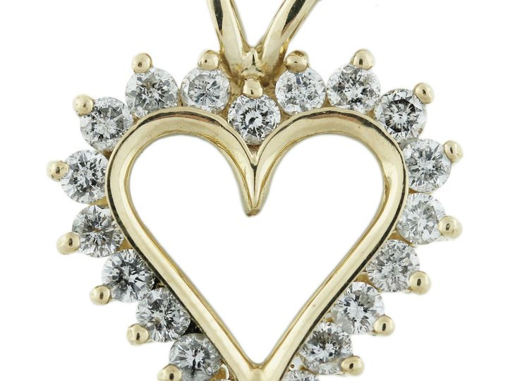 Tmx 1426787839725 Diamond Heart Pendant Oak Harbor wedding jewelry