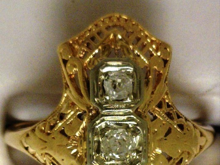 Tmx 1426790402770 Vintage Miners Cut Ring Oak Harbor wedding jewelry
