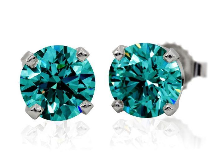 Tmx 1429993636353 Blue Zircon Studs1 Oak Harbor wedding jewelry