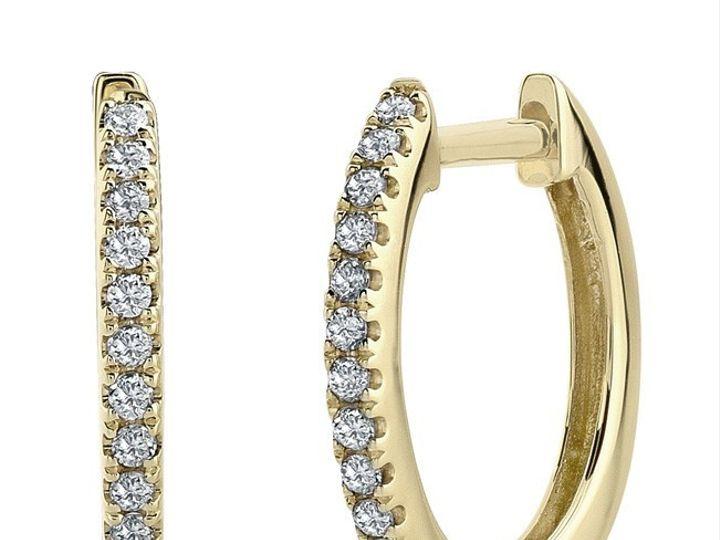 Tmx 1429993704434 Yellow Gold Hoops Oak Harbor wedding jewelry