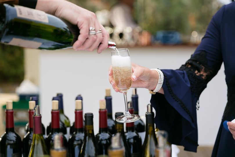 Pouring champagne
