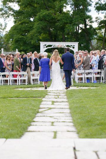 Escorting the bride down the aisle