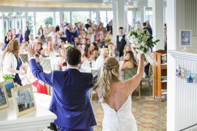 Newlyweds enter the reception