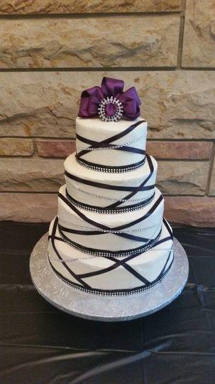 4 tier round cake